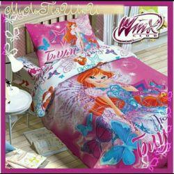 Yatak çarşafları Winx Bloom