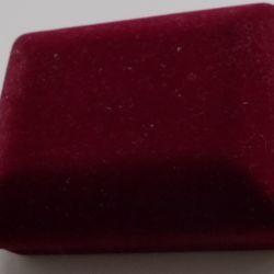 Gift box velvet burgundy.