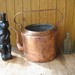Ancient copper kettle