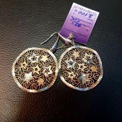 Серьги серебро позолоченное 925 проба
