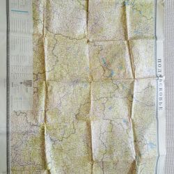 Map for hunters and fishermen. Collectible