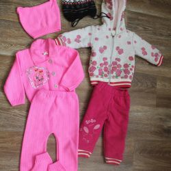 Pack of things for a girl (6-12 months)