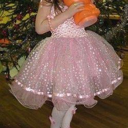 Elegant dress with a fluffy tutu