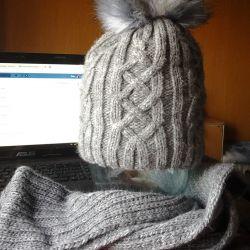 набір шапка і шарф