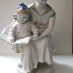 Porcelain figurine. FIRST BOOK