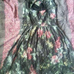 Çiçekli Dantel elbise