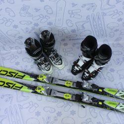 Skis Fischer RC4 175cm + bindings + boots