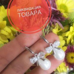 Earrings studs stones pearls