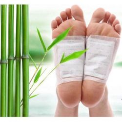 Toxins patches on the feet.