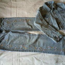 Jeans și jachetă 48p.