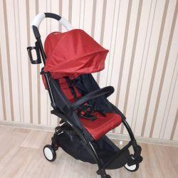 Нова коляска baby time колір червоний