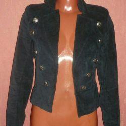 Blazer-ceket-ceket kadife kadınlar.