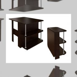 FOLDABLE TABLE TABLE - WENGE FROM CTC