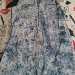 Φόρεμα με κουμπιά, σχέδιο φύλλων μεγέθους L.
