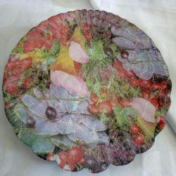 Plate decoupage gift
