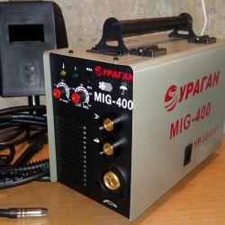 Αυτόματη συγκόλληση Ημιαυτόματη 2v1 συσκευή Τυφώνας MIG-400 Νέα