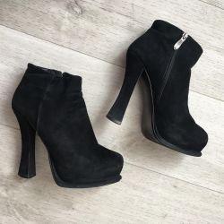 Tocuri de cizmă, piele naturală