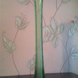 Vase de sticlă verde URSS