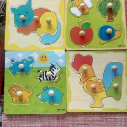 Wooden puzzles for the little ones