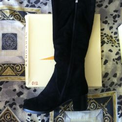 Boots, 36r winter, leather, nat.zamsha, not used