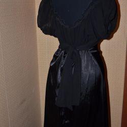 Платье с прозрачным верхом/дизайнерское