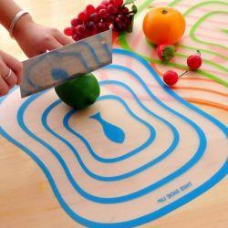 Eco-friendly plastic cutting board.