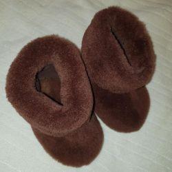 Ugg boots, chuni, felt boots, booties, real fur, new