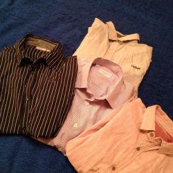 Пакетом Школьные рубашки на мальчика(4 шт.)