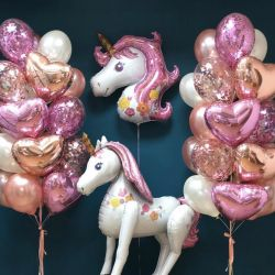 Unicorns. Balloons