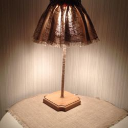 Table lamp, handmade