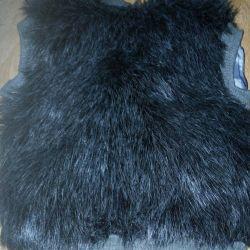 Fur vest for girls.