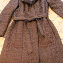 Coat with a fur collar, 48 p.