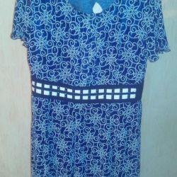 Платье шифон р.54 с подкладом,распродаю одежду