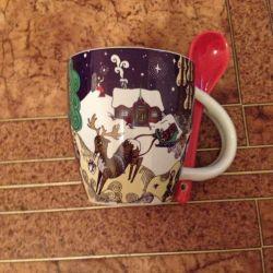 Mug with a spoon