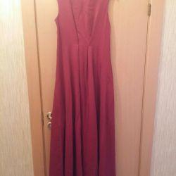 Платье женское бордо