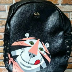 Yeni eko-deri sırt çantası
