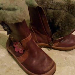 Χειμερινά δερμάτινα μπότες 26 r