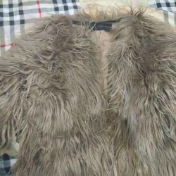Palton de blană, sacou. Cu fermoar