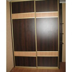 Sliding wardrobe with the Combined Doors