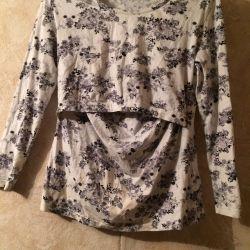 Nursing mom blouse