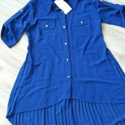 Рубашка удлиненная новая