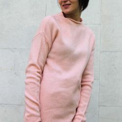 Knitted tunic, lengthened sweater