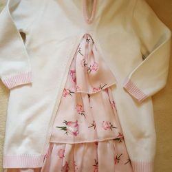 Костюм дитячий плаття кофта туніка Bebus 12-18