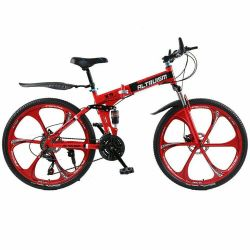 Mountain folding bike 24 speed alloy wheels
