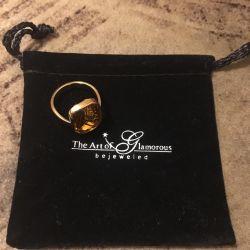 Перстень итальянская бижутерия