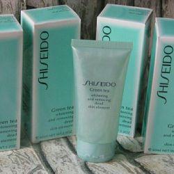 Пилинг-скатка для лица Shiseido Green Tea Шисейдо