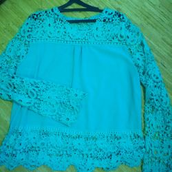 Blouse with lace (52-54)