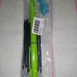 Tükenmez kalem + 10 adet çubuk