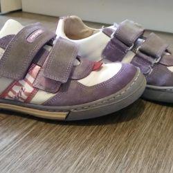Δερμάτινα πάνινα παπούτσια Minimen