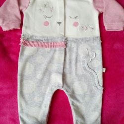 Overalls for the girl 3-6 months.